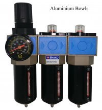 3 stage breathing air filter set with aluminium bowls