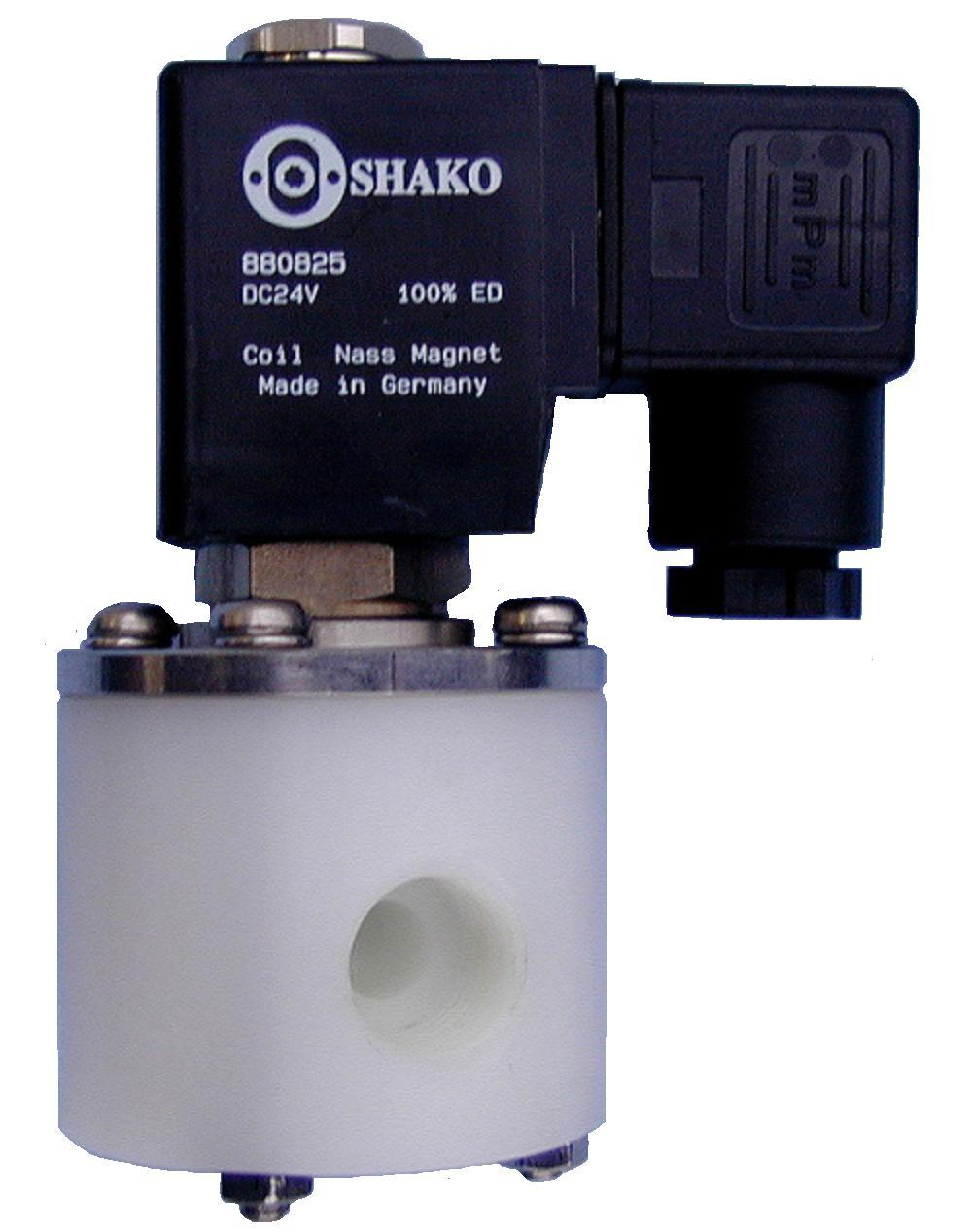 PTFE solenoid Valves for acid and aggressive media