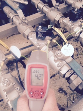 Biogas Treament works solenoid valves