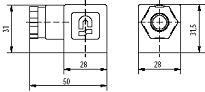 Connector dimensions for cyclic timers