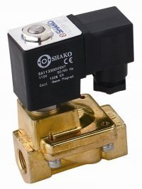 brass solenoid valve 2/2 way normally closed for water
