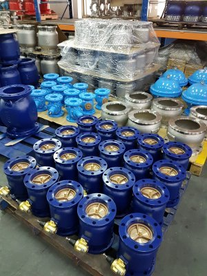 Z Tide BFRD and BFRS Valves at factory